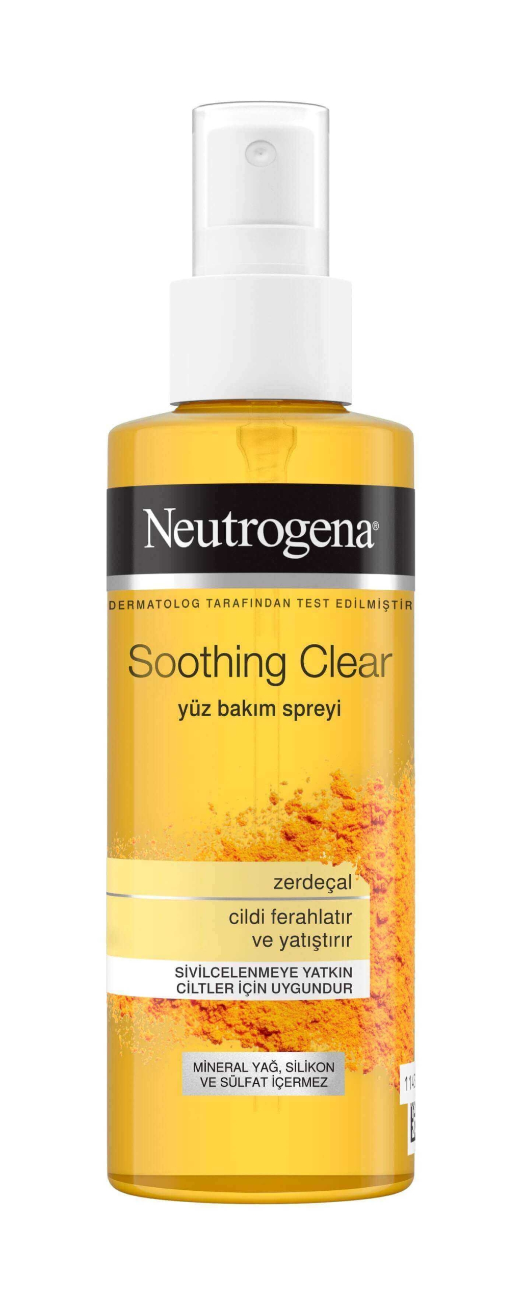 Neutrogena Soothing Clear Nemlendirici Tonik Sprey